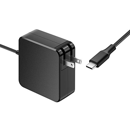 (7.5Ft 90W AC Adapter Charger Fit for HP Spectre 15-bl075nr 15-bl012dx ENVY 17-u153nr x360 Convertible PC Type C (USB C Connector) Laptop Power Supply Cord (Compitable with 65W 45W))