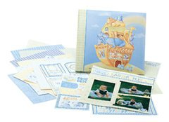 Tapestry by CR Gibson 12-Inch by 12-Inch Scrapbook Kit, Noah's Ark (Tapestry Cr Gibson Album)