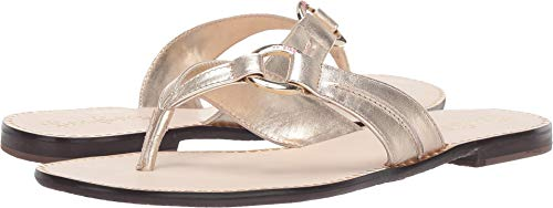 Lilly Pulitzer Women's Marina Sandal Gold Metallic 8 M US