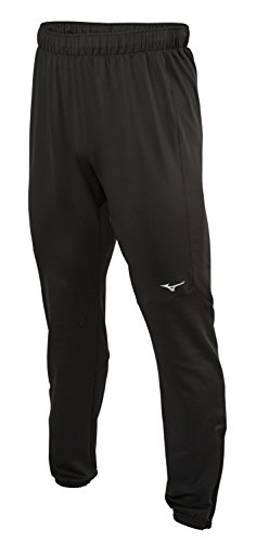 (Mizuno Running Mens Alpha Track Pants, Black, Large)