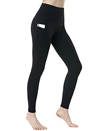 Tesla Yoga Pants High Waist Tummy Control w Side Pocket FGP54-BLK