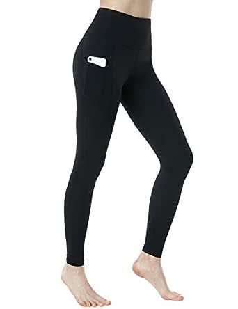 Tesla Yoga Pants High Waist Tummy Control w Side Pocket FGP54-BLK