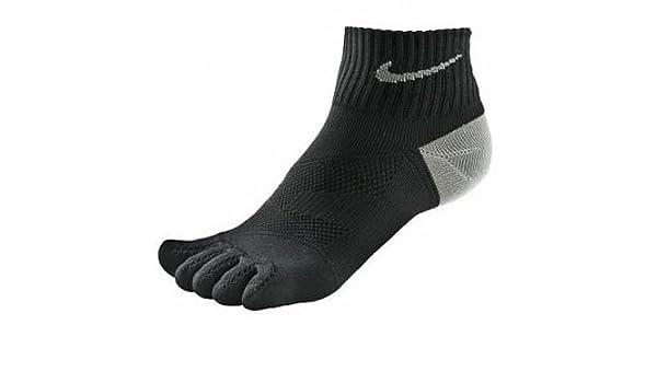 Calcetines unisex Nike, 5 dedos, antiampollas, para deportes, blanco y negro, Hombre, color Black/Nano Grey, tamaño Small: Amazon.es: Deportes y aire libre