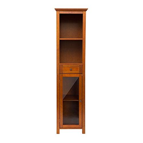 4 Shelf Oak Cabinet (Glitzhome 65.55