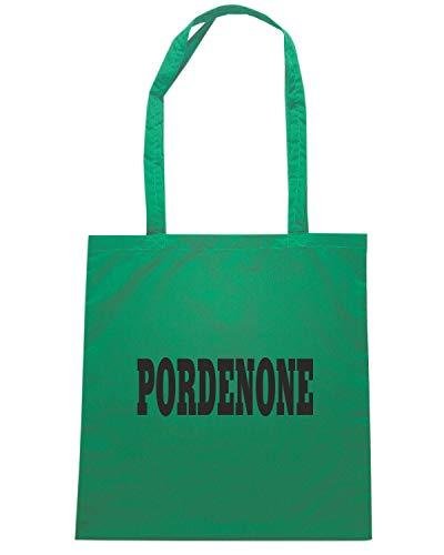 PORDENONE LOGO CITTA STEMMA WC0976 Shopper Borsa Shirt Verde ITALIA Speed pwCaqa