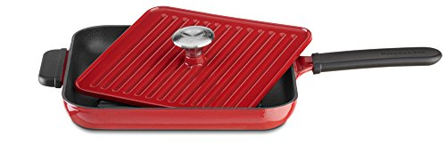 KitchenAid KCI10GPER Cast Iron Grill and Panini Press Cookware - Empire (Grill Pan Lid)
