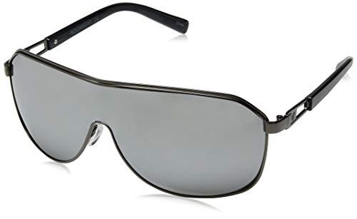 Rocawear Men's R1490 Gunm Non-Polarized Iridium Shield Sunglasses, Gun Metal, 75 ()