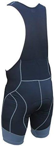 Zimco Cycling Bib Shorts Men Air Plus Bicycle Bibs Padded Racing Bike Shorts Small, Black//Gray Panel