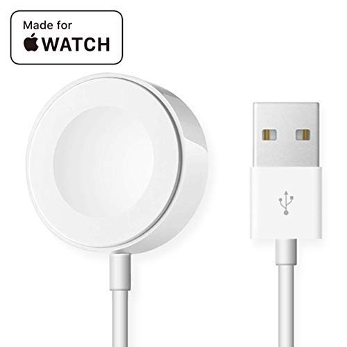 Watch Charger for iWatch Magnetic Charging Cable Wireless Portable Charger Pad Fast Charge 3.3 FT for 38mm 42mm iWatch Series 1 2 3