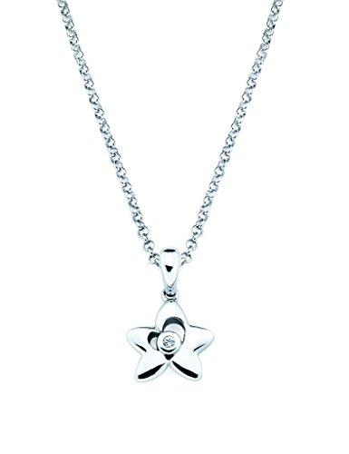 Little Diva Diamonds 925 Sterling Silver Diamond Accent Star Pendant Necklace, 16