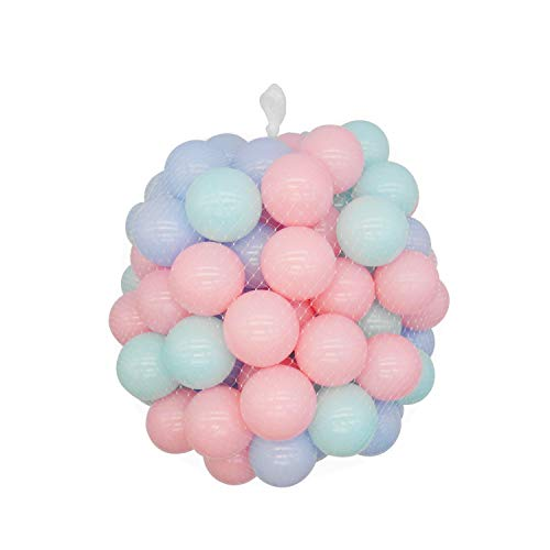 - TRENDBOX 100 Macaron Ocean Ball (Ship from USA) for Babies Kids Children Soft Plastic Birthday Parties Events Playground Games Pool