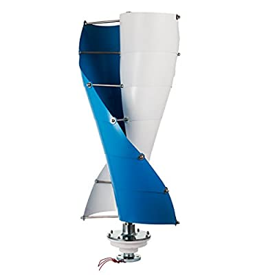 VEVOR Wind Turbine Spiral Wind Turbine Generator 3 Phase Vertical Axis Type Wind Generator Kit