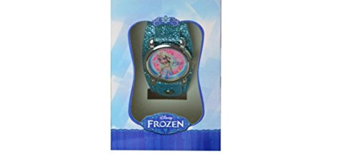 Frozen Watch with Metal Face & Glitter Band in Window Box