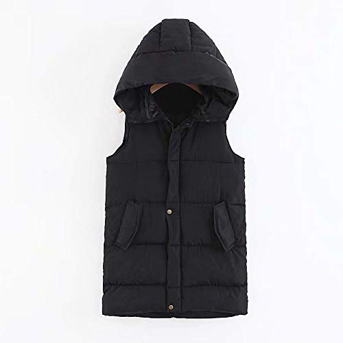 Coat Pocket Alla Vest fashion Da Down Nero Moda Giacca Donna Hooded Jacket Womens Outdoor wHp7qw