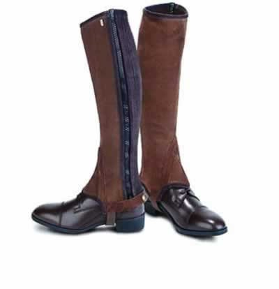 (Tredstep Ireland Original Suede Half Chaps - Brown Calf 15/Height 16)