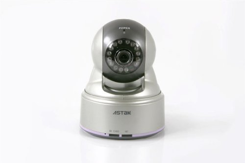 Astak Pan & Tilt Wired IP Network Camera Monitoring System with Night Vision, Motion Sensor, and Built-in-Audio Astak Pan