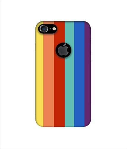 Casotec Back Case for Apple iPhone 7  Hard| Plastic| Rainbow