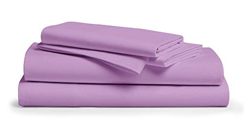 800 Thread Count 100% Egyptain Cotton Sheet Queen Lilac Sheets Set, 4-Piece Long-Staple Combed Pure Best Sheets for Bed, Breathable, Soft & Silky Sateen Weave Fits Mattress Upto 18'' Deep Pocket