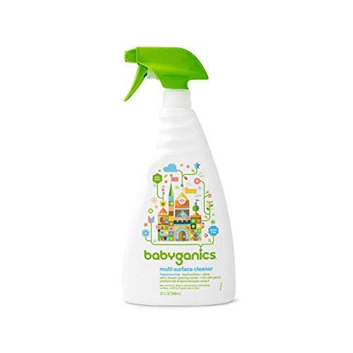 Hardwood Toddler Seat (Babyganics Multi Surface Cleaner, Fragrance Free, 32oz Spray Bottle (Pack of 3))