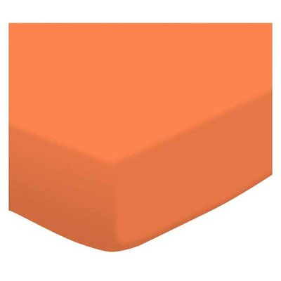 SheetWorld Fitted Portable/Mini Crib Sheet - Burnt Orange Jersey Knit - Made In USA