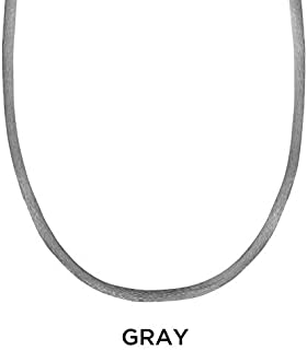 product image for Carolyn Pollack Sterling Silver Satin Cord 15 Necklace (Grey)