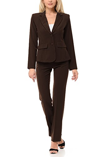 Brown Womens Pant Suit - 4