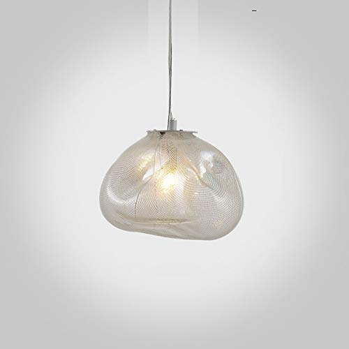 Creative Pendant Lamp 1-Light Luxury Hand Blown Glass Design Led Ceiling Hanging Chandelier Fixture for Dining Room Kitchen Living Room Kids Bedroom Indoor Luminaire Art Decor ()
