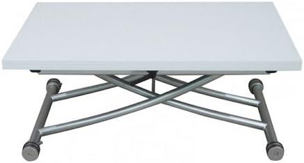 Table Basse Relevable A Plateau Allonge Depliable Clever Xl