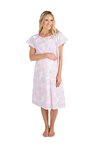 ry Maternity Hospital Gown,Lilly S/M pre pregnancy 0-10 (Hospital Nursing Gown)