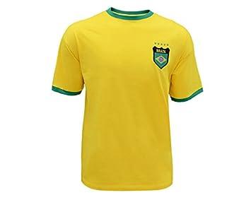 Sin marca Camiseta Retro Brasil -R. Carlos-: Amazon.es: Deportes y aire libre