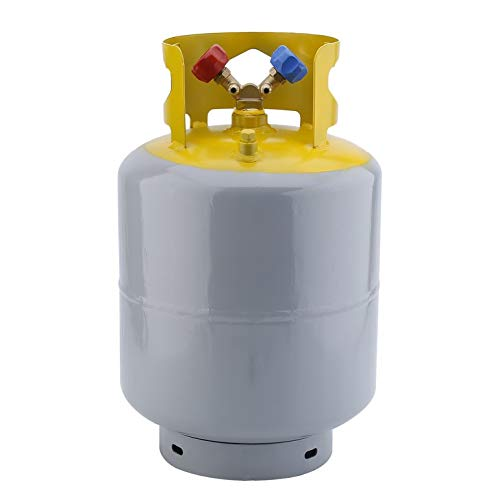 Portable 30lb 50lb Refrigerant Recovery Cylinder Steel 400 PSI Refrigerant Reclaim Tank Reusable Recovery Device
