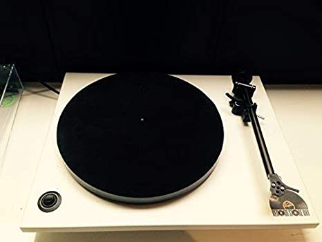 Vinyl Guru Cuero Tocadiscos Plato Mate - Negro: Amazon.es ...