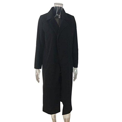 Cardigan Lungo Parka Nero Giacche Eleganti Invernali Beautytop Cappotto Manica Autunno Donna Outwear Lunga Cappotto Cappotto TAvZg