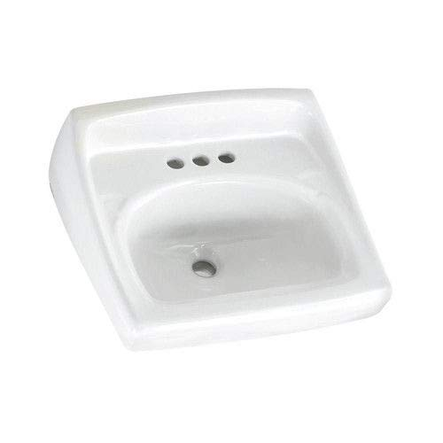 American Standard 0355.012.020 Lucerne Wall-Mount Lavatory Sink with 4-Inch Faucet Holes, White ()