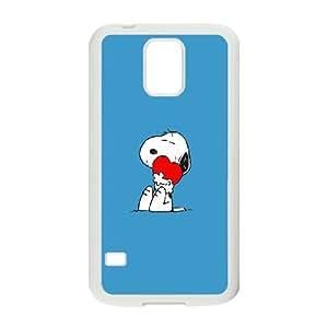 Snoopy Love plastic funda Samsung Galaxy S5 cell phone case funda white cell phone case funda cover ALILIZHIA12055
