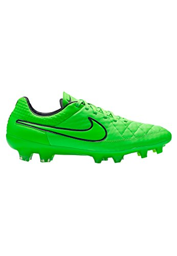 (Nike Tiempo Legend V FG Mens Football Boots 631518 Soccer Cleats Firm Ground (US 4, Green Strike Black 330))
