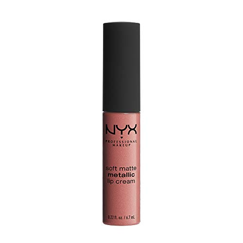 NYX PROFESSIONAL MAKEUP Soft Matte Metallic Lip Cream, Cannes, 0.22 Ounce