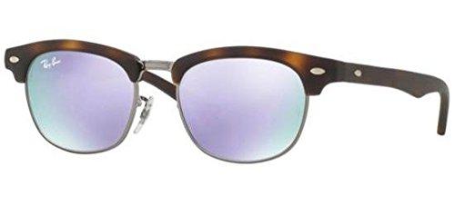 Ray-Ban Jr. Kids Clubmaster Kids Sunglasses (RJ9050) Tortoise Matte/Purple Metal - Non-Polarized - 45mm (Rayban-spectacle Frames)
