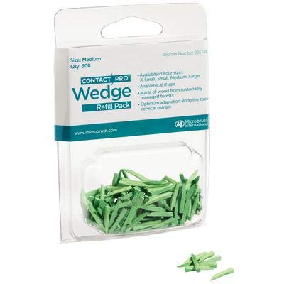 Microbrush 291748 ContactPro Wedge, Medium, Green (Pack of 300) by Microbrush