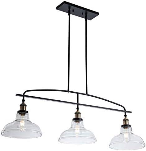 Modern 3-Light Pendant Lighting ,Adjustable Kitchen Island Lights Hanging Height Lamp