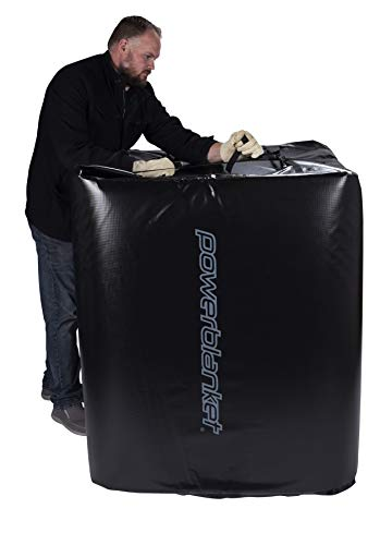 Powerblanket TH330-240V Industrial Grade/Weather Resistant D-15 Vinyl Shell 330 gal Insulated IBC Tote Heater, 240V, Black