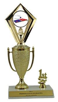 10'' Cornhole Cup Trim Trophy by QuickTrophy