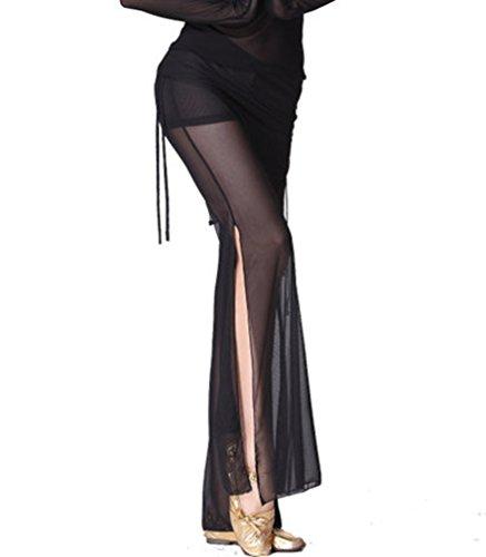 ZLTdream Women's Belly Dance Stretch Tulle Pants