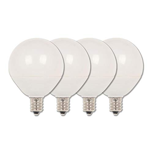 (Westinghouse Lighting 4513120 60W Equivalent G16-1/2 Dimmable Soft White LED Light Bulb with Candelabra, Base Four Pack )