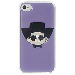 Grandma Wearing Black Hat Pattern Epoxy Hard Case for iPhone 4/4S