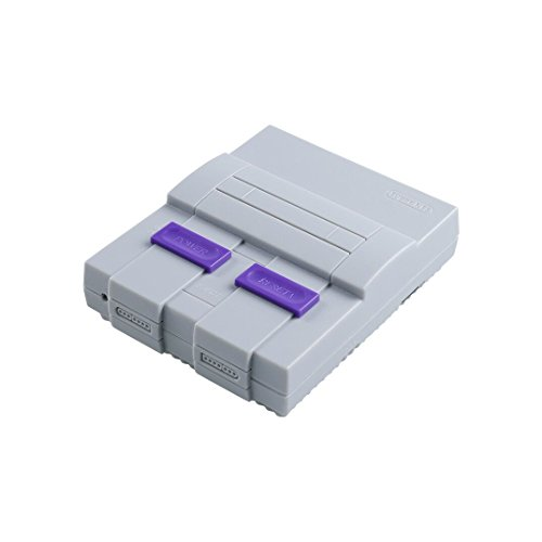 SNES Case for Raspberry Pi 3 B, 2 and B+,with Functional POWER and RESET Button and HeatSink,Retro Games Super NES Classic Case by Easyget