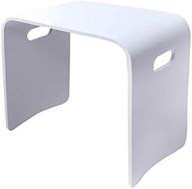 GWDJ サイドテーブル、ソリッドウッド製スモールスクエアスツール、家庭用テーブルスツール、安定したベッドサイドテーブル、ベンチ、ネストテーブル、寝室用リビングルーム4色、3サイズ コーナーテーブル (色 : 白, サイズ さいず : 48×31×43cm)
