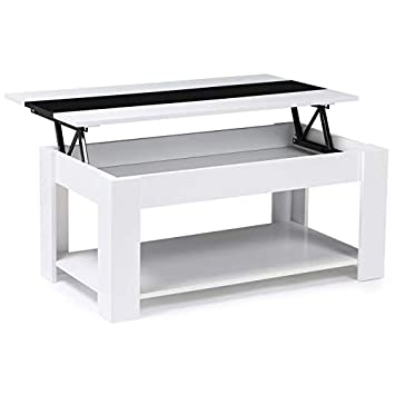 Idmarket Table Basse Contemporaine Tao Plateau Relevable Bois
