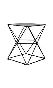CAMINO A CASA–Tavolino Design Vetro e Acciaio Nero Prize