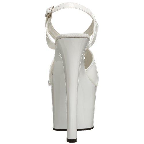 Pleaser SKY-330 - Zapatos con correa de tobillo para mujer Bianco (White/white)